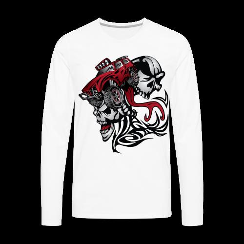 Flamed Skull Truck - Men's Premium Long Sleeve T-Shirt