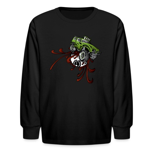 Eyeball Rupture Truck - Kids' Long Sleeve T-Shirt