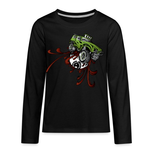 Eyeball Rupture Truck - Kids' Premium Long Sleeve T-Shirt