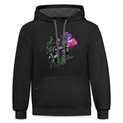 Flower Powered Quad - Contrast Hoodie