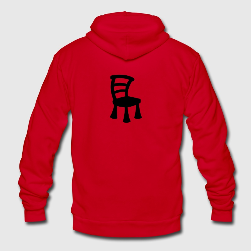 comic chair Zip Hoodies/Jackets - Unisex Fleece Zip Hoodie by American Apparel