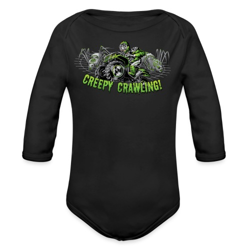 Creepy Crawler ATV - Organic Long Sleeve Baby Bodysuit