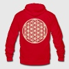 FLOWER OF LIFE - vector | unisex fleece zip hoodie - Unisex Fleece Zip Hoodie by American Apparel
