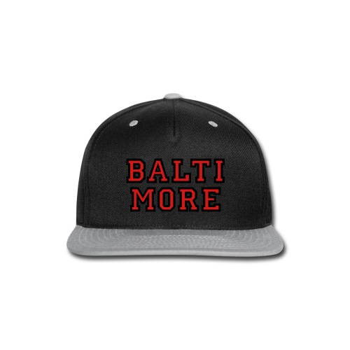 Baltimore College Style Hoodie - Snap-back Baseball Cap