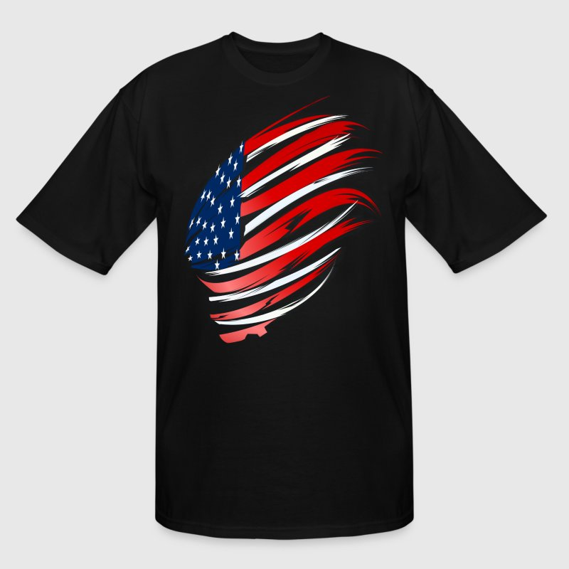 Sweeping American Flag - Men's Tall T-Shirt