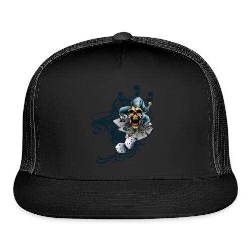 S-105 Jester Skull Men's T - Trucker Cap