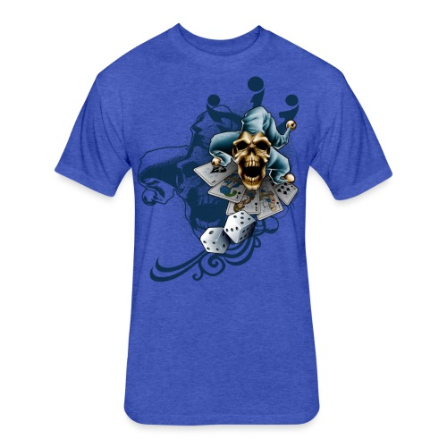 S-105 Jester Skull Men's T - Fitted Cotton/Poly T-Shirt by Next Level