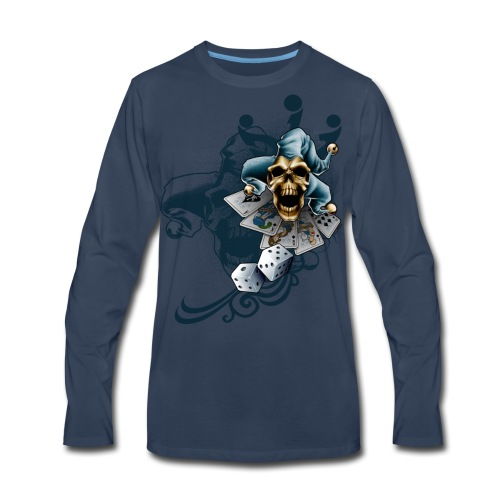 S-105 Jester Skull Men's T - Men's Premium Long Sleeve T-Shirt