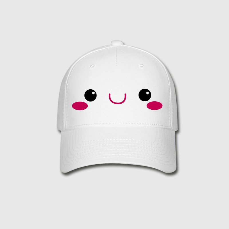 kawaii face cute! Caps - Baseball Cap