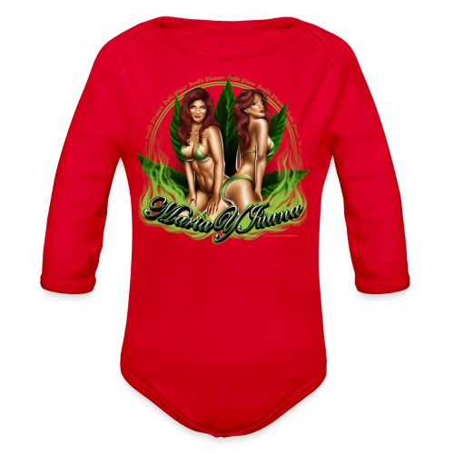 S-120 Maria y Juana Men's T - Organic Long Sleeve Baby Bodysuit