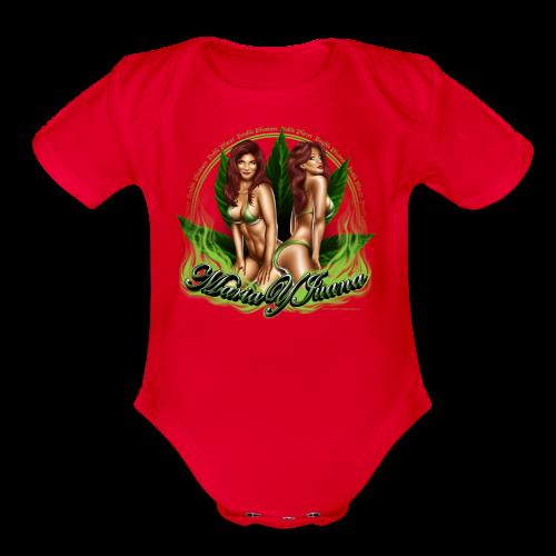 S-120 Maria y Juana Men's T - Organic Short Sleeve Baby Bodysuit