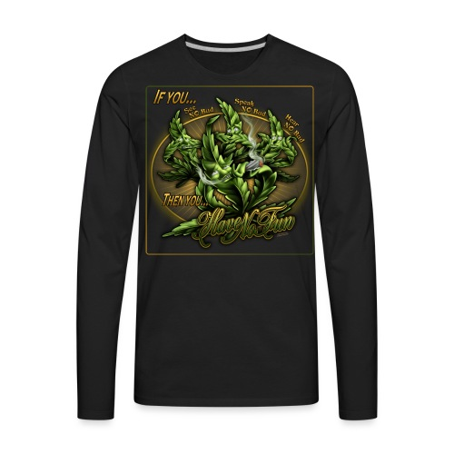S-107 See No Have No Hoodie 3XL - Men's Premium Long Sleeve T-Shirt