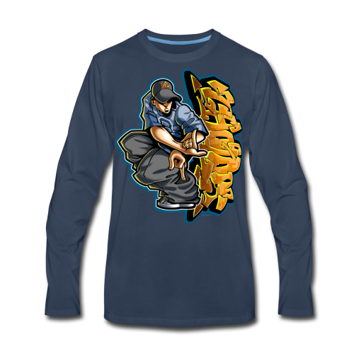 S-106 Cholo Hands Hoodie - Men's Premium Long Sleeve T-Shirt