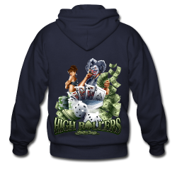 High Roller Women's T - Men's Zip Hoodie