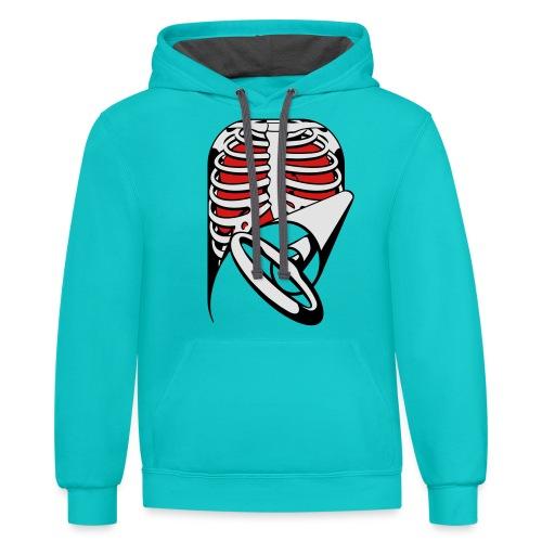 Skeleton Key, bones, chest t-shirt, ribs - Contrast Hoodie