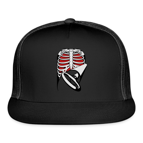 Skeleton Key, bones, chest t-shirt, ribs - Trucker Cap