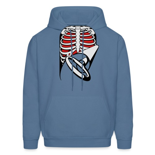 Skeleton Key, bones, chest t-shirt, ribs - Men's Hoodie