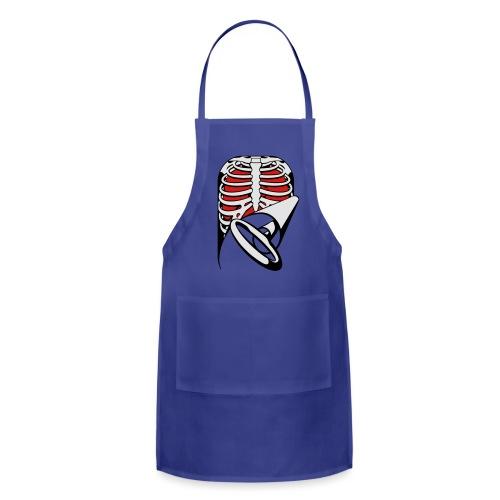Skeleton Key, bones, chest t-shirt, ribs - Adjustable Apron