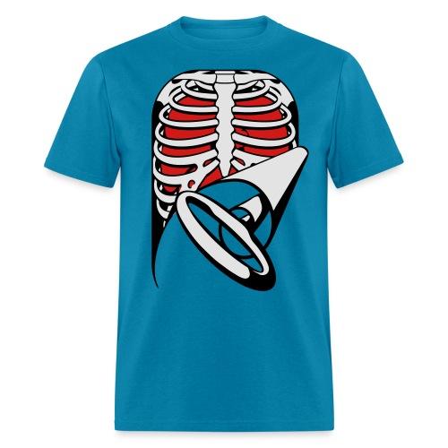 Skeleton Key, bones, chest t-shirt, ribs - Men's T-Shirt