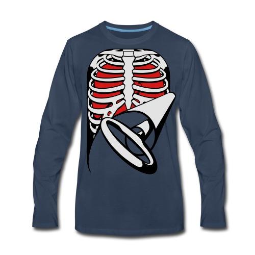 Skeleton Key, bones, chest t-shirt, ribs - Men's Premium Long Sleeve T-Shirt