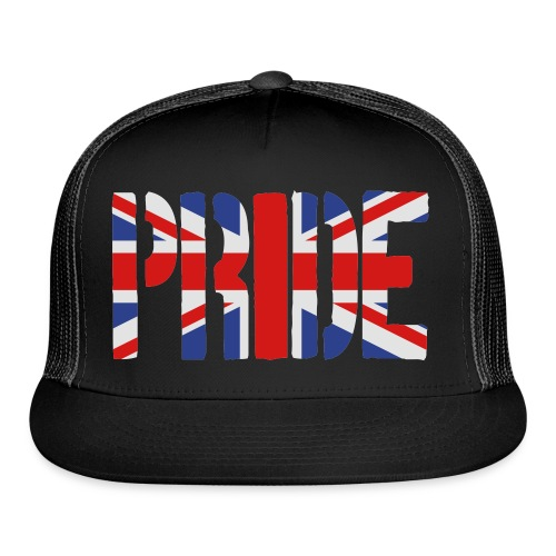 PRIDE Britain Flag, British Flag, Union Jack, UK Flag - Trucker Cap