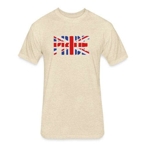 PRIDE Britain Flag, British Flag, Union Jack, UK Flag - Fitted Cotton/Poly T-Shirt by Next Level