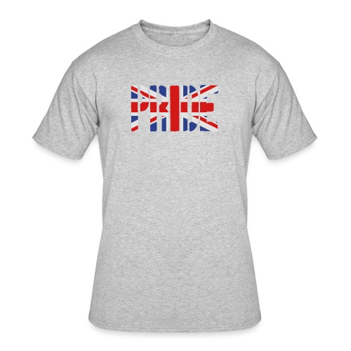PRIDE Britain Flag, British Flag, Union Jack, UK Flag - Men's 50/50 T-Shirt