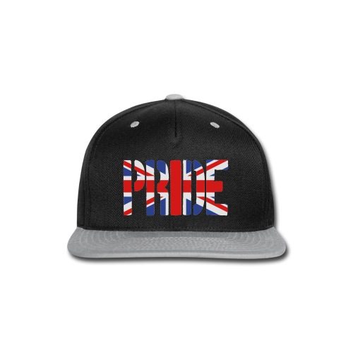 PRIDE Britain Flag, British Flag, Union Jack, UK Flag - Snap-back Baseball Cap
