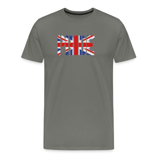 PRIDE Britain Flag, British Flag, Union Jack, UK Flag - Men's Premium T-Shirt