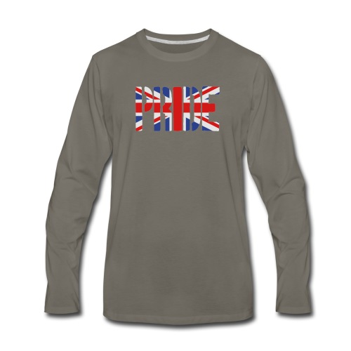 PRIDE Britain Flag, British Flag, Union Jack, UK Flag - Men's Premium Long Sleeve T-Shirt