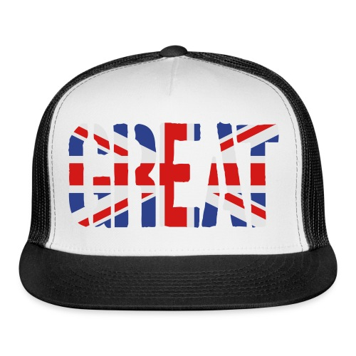 Great Britain Flag, British Flag, Union Jack, UK Flag - Trucker Cap
