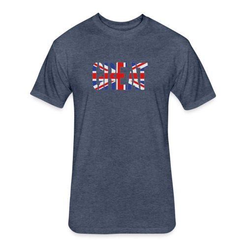 Great Britain Flag, British Flag, Union Jack, UK Flag - Fitted Cotton/Poly T-Shirt by Next Level