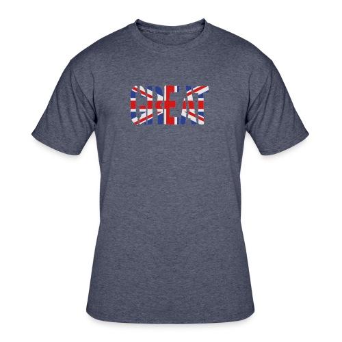 Great Britain Flag, British Flag, Union Jack, UK Flag - Men's 50/50 T-Shirt