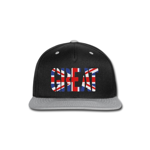 Great Britain Flag, British Flag, Union Jack, UK Flag - Snap-back Baseball Cap