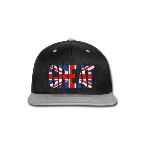 Great Britain Flag, British Flag, Union Jack, UK Flag - Snap-back Baseball Cap