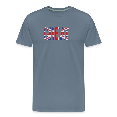 Great Britain Flag, British Flag, Union Jack, UK Flag - Men's Premium T-Shirt