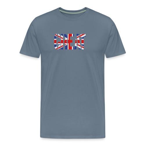 Great Britain Flag, British Flag, Union Jack, UK Flag - Men's Premium T-Shirt