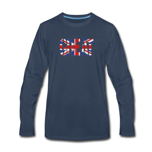 Great Britain Flag, British Flag, Union Jack, UK Flag - Men's Premium Long Sleeve T-Shirt