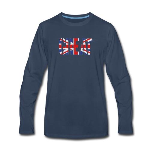 Great Britain Flag, British Flag, Union Jack, UK Flag - Men's Premium Long Sleeve T-Shirt