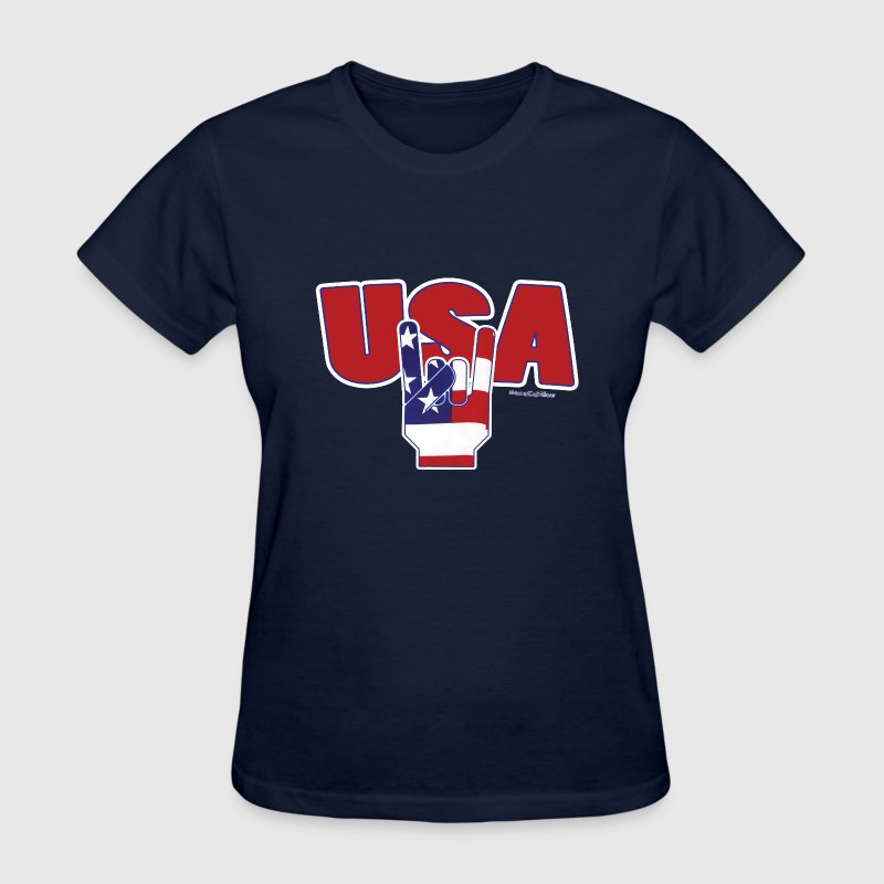 Fourth Of JulY USA ROCKS Women's T-Shirts - Women's T-Shirt