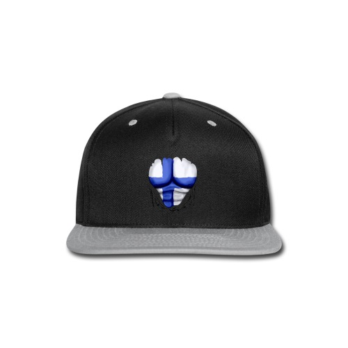 Finland Flag Ripped Muscles, six pack, chest t-shirt - Snap-back Baseball Cap