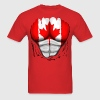 Canada Flag Ripped Muscles, six pack, chest t-shirt - Men's T-Shirt