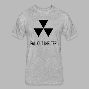 Fallout Shelter - Fitted Cotton/Poly T-Shirt by Next Level