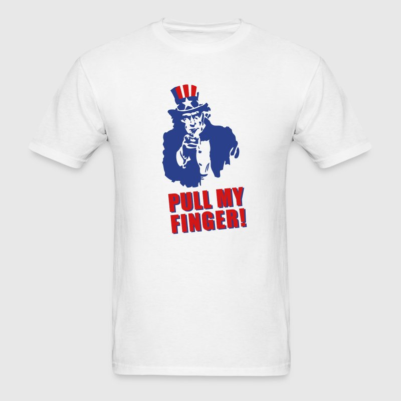 Pull my finger (Uncle Sam) T-Shirts - Men's T-Shirt