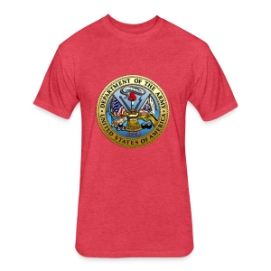 US Army Seal - Fitted Cotton/Poly T-Shirt by Next Level