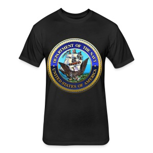 US Navy (USN) Seal - Fitted Cotton/Poly T-Shirt by Next Level