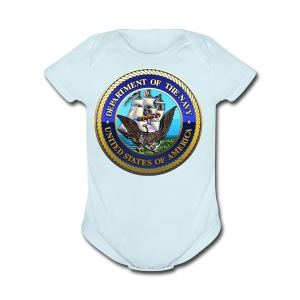 US Navy (USN) Seal - Short Sleeve Baby Bodysuit