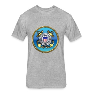 US Coast Guard (USCG) Emblem - Fitted Cotton/Poly T-Shirt by Next Level