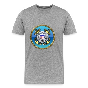 US Coast Guard (USCG) Emblem - Men's Premium T-Shirt