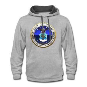 US Air Force (USAF) Seal - Contrast Hoodie
